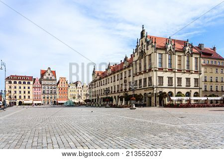 View Of Central Market Square (rynek) In Wroclaw