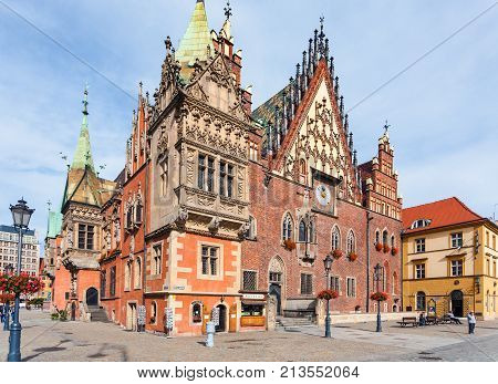 Old Town Hall On Market Square In Wroclaw