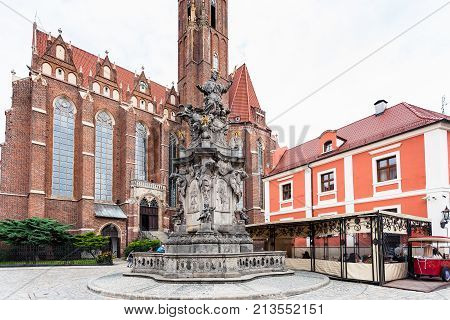 John Of Nepomuk Monument In Wroclaw City