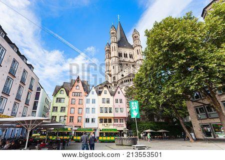 Fischmarkt Square In Cologne City In September