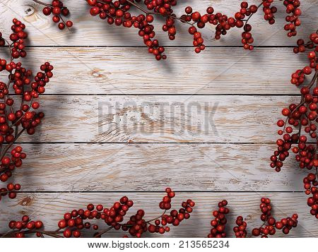 3D Rendering Light Christmas Wooden Background