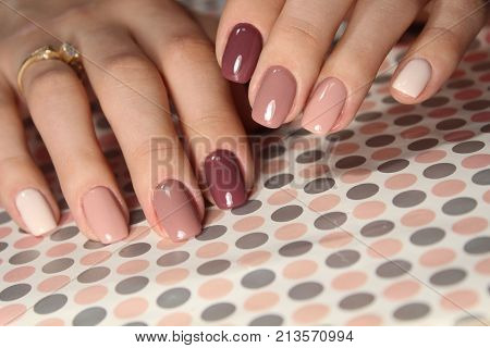 Nail Art Manicure. Beauty Hands.