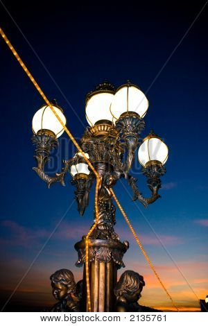 City Lamp On Nightfall
