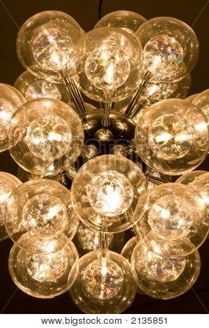 Unique & Artistical Round Light In Center Close Up View