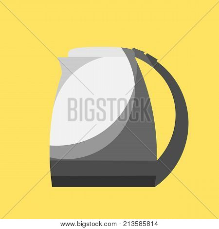 Vector drawing of an electric kettle hot water