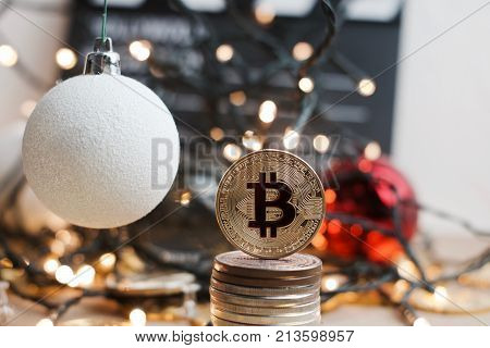Christmas Bitcoin Coin