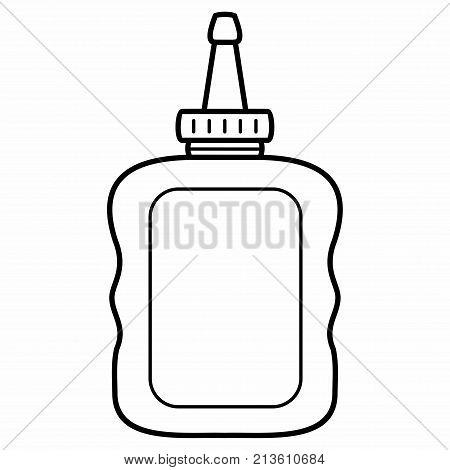 Automotive Synthetic Hyper Lubricant Vector Outlines Flat