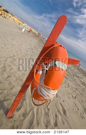 Red Rescue Buoy
