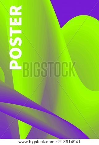 Electronic music poster for festival. Trance wave poster. Night club party poster design and event. Abstract gradients waves. Music background. Vector illustration