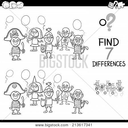 Differences With Kid Masked Ball Color Book