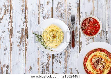 Home Made Pasta Alla Arrabiata