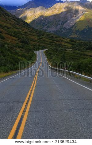 Hatcher Pass Road is a scenic 49-mile rugged mountain pass in the Mat-Su Valley, Alaska.