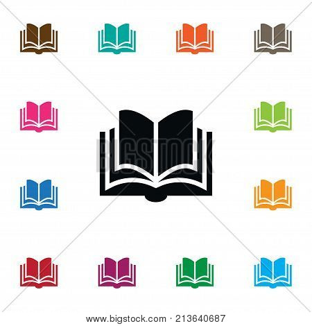Learning Vector Element Can Be Used For Dictionary, Learning, Book Design Concept.  Isolated Dictionary Icon.