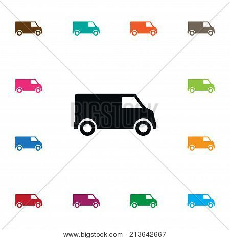 Carriage Vector Element Can Be Used For Lorry, Van, Carriage Design Concept.  Isolated Lorry Icon.