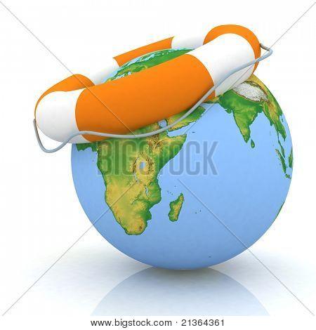 the globe and lifebuoy ring