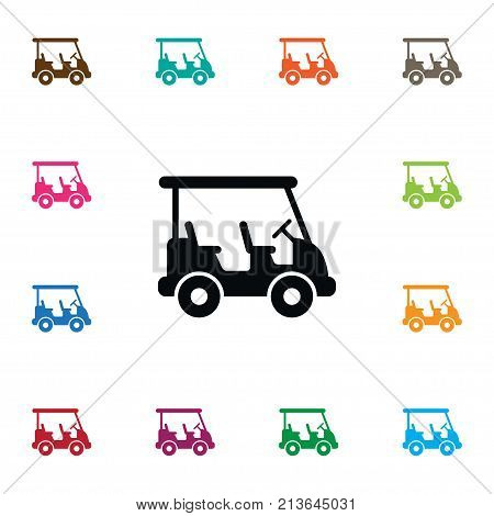 Buggy Vector Element Can Be Used For Buggy, Golf, Game Design Concept.  Isolated Game Icon.
