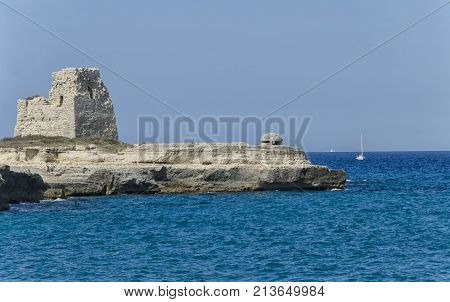 View of the seascape of the Apulia