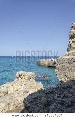 View of the coastline of San Foca