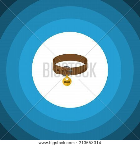 Hound Necklace Vector Element Can Be Used For Puppy, Dog, Collar Design Concept.  Isolated Puppy Collar Flat Icon.