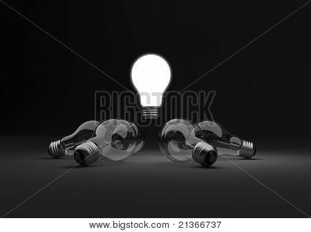 Light Bulbs Circle