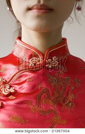 abstract chinese cheongsam costume
