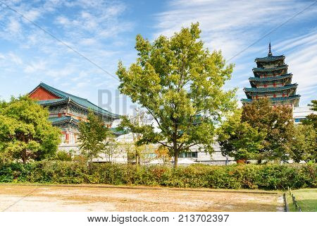 Scenic View Of The National Folk Museum Of Korea, Seoul