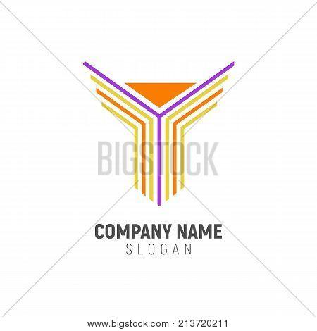 Initial Y Shape Logo Design