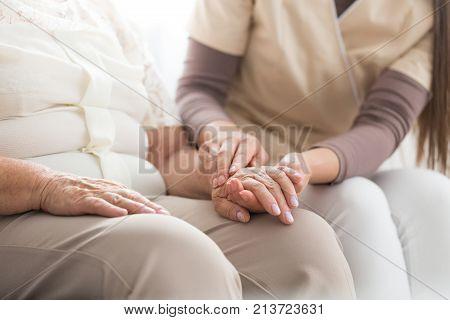 Elderly Person With Parkinson