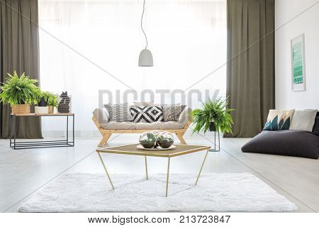 Table In Bright Living Room
