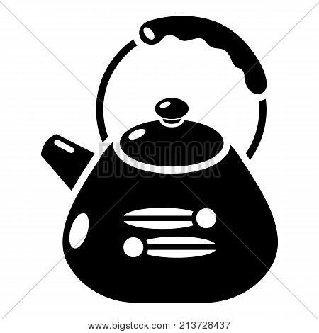 Kettle metal icon. Simple illustration of kettle metal vector icon for web
