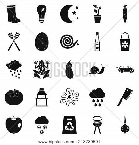 Correct health icons set. Simple set of 25 correct health vector icons for web isolated on white background