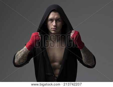 Portrait Of A Male Boxing Fighter In Sportswear
