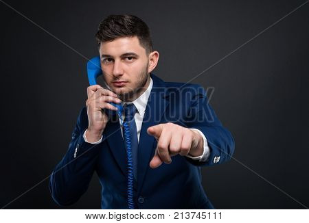Serious Ceo Talking Business On The Phone
