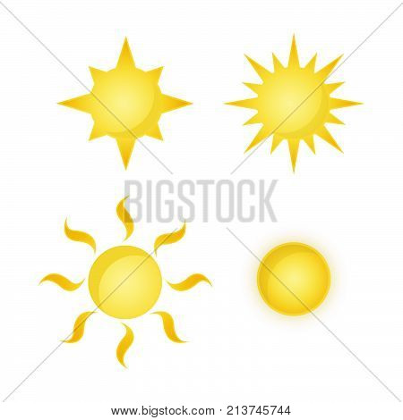 Save Download Preview Sun Vector isolated summer icon design. Vector yellow sun symbol. Vector sun sun element. Sun weather icon vector sun logo isolated sign symbol