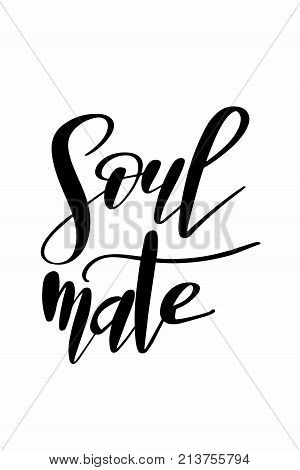Christmas quote, lettering. Print Design Vector illustration. Soulmate.