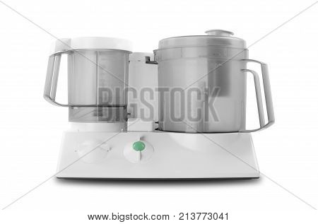 Home appliance - Food processor on a white background. It is isolated the worker of paths is present.