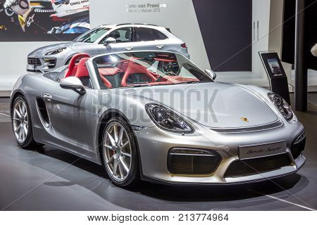 New 2016 Porsche Boxster Spyder Sports Car