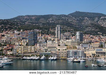 View Of La Condamine Ward And Port Hercules In Monaco