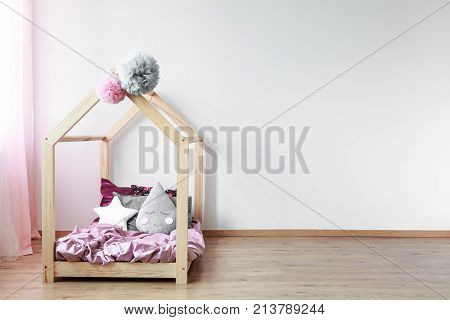 Scandi Bed In Girl's Bedroom