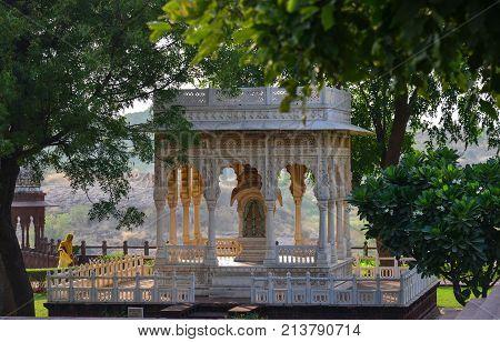 The Jaswant Thada Temple In Jodhpur, India