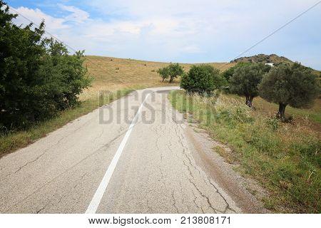 Italy Bad Road