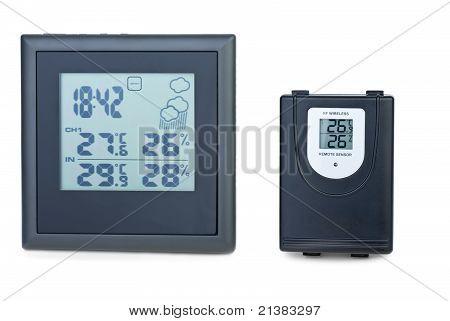 Modern Digital Weather Station With External Rf Sensor