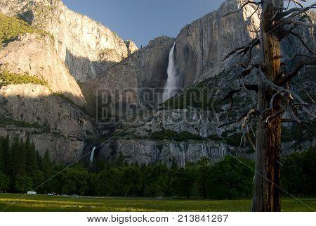 Yosemite Falls from Yosemite Valley CA from Yosemite Valley
