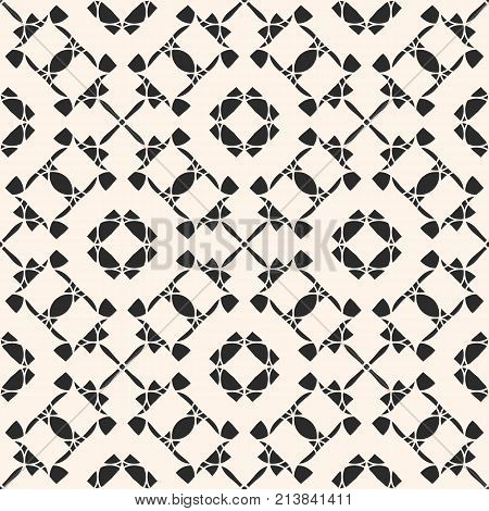 Vector ornament seamless pattern. Black and white repeat ornamental texture, oriental style, traditional motif. Abstract mosaic background. Elegant geometric design for prints, fabric, textile, decor. Ornamental background. Oriental pattern.