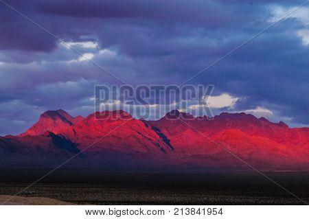 Red Rock Canyon near Las Vegas NV at Sunrise