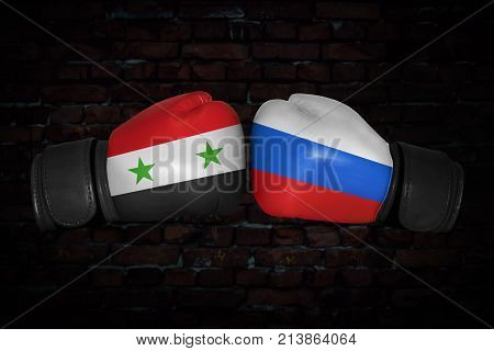 A Boxing Match Between The Syria And Russia