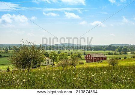 Rural Farmland At Gettysburg Battlefield
