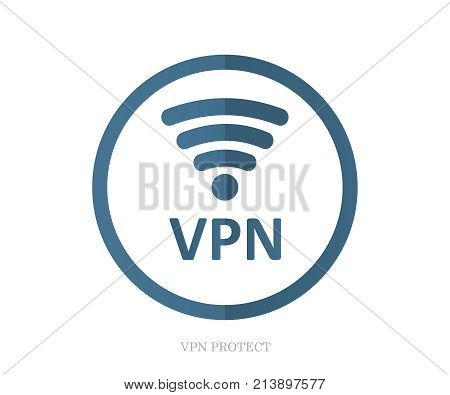 VPN icon vector illustration. VPN protect safety. Internet security wifi