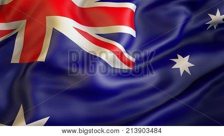 Waiving flag of Australia, patriot of  Australia