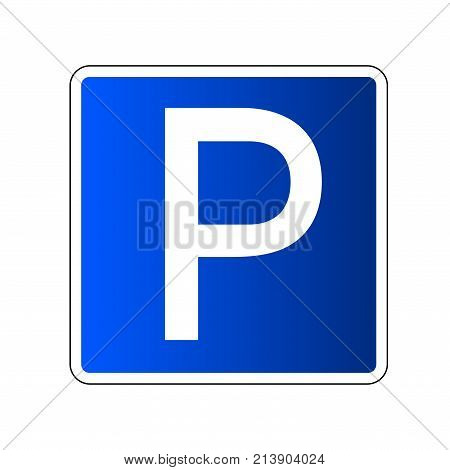 Parking Sign Isolated